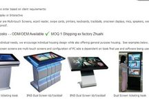 KIOSK / We build kiosks to order based on client requirements:  Actual Usage: Display or Interactive  Add on's we offer are Multi-touch Screens, ecard reader, swipe cards, printers, keyboards, trackballs, onscreen displays, mics, speakers, webcams, water proofing, dust proofing, vandal proof.