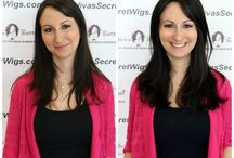 Transform Your Look With Wigs / Our realistic looking wigs can transform your look! Transform your look everyday with wigs! You can become blond if you're brunette, short if you're long.  Be whoever you want to be with wigs!  The transformation is amazing and it takes just minutes to have a complete new look.  Check out these great transformations and make-overs that happened in just minutes!