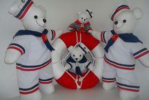 URSOS MARINHEIROS / Ursos Marinheiros para decoração de festas ou o quartinho de seu bebê