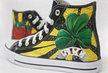 Zapatillas - Shoes - PimPamCreations.com / Zapatillas Personalizadas :: pintadas a mano #handmade #art #vans #converse #playeras / by Jordi Montes