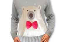 Swetry z misiem / Swetry Świąteczne z motywami misia