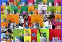 Cor, Desenho e Criatividade / Diversos trabalhos dos alunos em sala de aula. Planejando, elaborando, criando e finalizando.