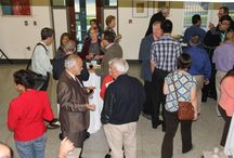 Welcome Reception for Archbishop Oscar Romero Conference / Conference presenters and participants for the International Conference on Archbishop Oscar Romero joined us at NDCAC for a welcome reception and memorial tribute to Reverend Edward L. Cleary.