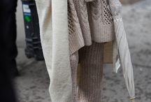 KNITWEAR: Layered / Luxurious fabrics draped and layered