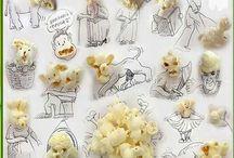 sketches, plus food...