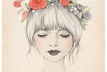 whimsical/ girl  art