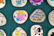 Hand painted rocks by me!