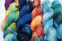 Handgefärbte Sockenwolle