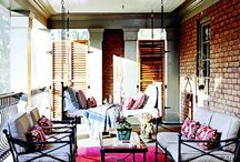 Home- Where Outdoors and Indoors Meet / Porch and Deck Ideas / by Allison Bell