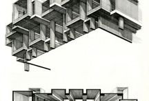 drawing architecture / handmade architectural drawings