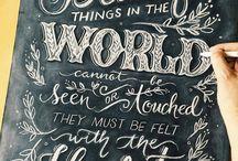 Chalkboards - Lettering