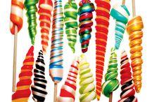 Papabubble around the world / Todos los caramelos artesanos que preparamos en nuestras tiendas. ¡Puedes encontrar todos los colores y sabores que te imagines!