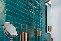 Turquoise Bathrooms || Chic Living Clique