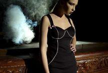 Lina Liri's Elegant High Fashion Black Or White Color Dress Straight Line With Regli.Free Shipping. / Lina Liri's Elegant High Fashion Black Or White Color Dress Straight Line With Regli.Free Shipping.