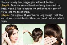 Des cheveux et des tresses