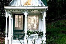 Potting sheds, greenhouses and winter gardens
