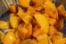 "Persimmon ""kaki"" salad with mini Honey mandarins...delicious"
