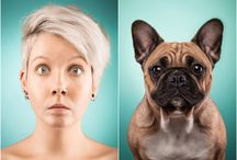 "Owners Who Look Like their Dogs / Barking mad owners have proved they really do look like their pets – by performing impressions of their own dogs. In a series of hilarious ""paw""-traits, owners pull their best faces to look like their pooches. Snapped by photographer Ines Opifanti, people stuck their tongues out, yawned and tilted their heads in curiosity at the camera. Opifanti, from Hamburg, Germany, came up with the idea while interacting with her own dogs, two pug/French bulldog crossbreeds. 