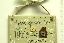 handmade wooden house signs uk