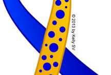 Dercum's Disease Blue and Yellow Awareness Ribbon / Dercum's Disease (Adiposis Dolorosa) uses an awareness ribbon that is Royal Blue With Gold and Royal Blue Circles. Adiposis dolorosa, also known as Dercum's disease is a rare condition.