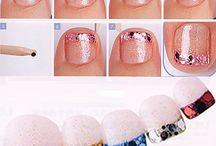 Nail designs for summer pedis / by Stina Vazquez