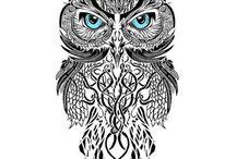 Tatuagens Coruja