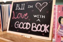 Library DIY / Book displays & Chalkboard/Bulletin Board Ideas
