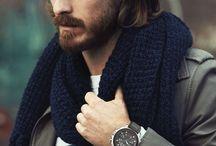 the beard + long hair