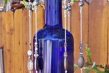 criatividade com garrafas de vidros