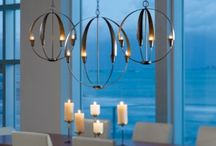 Transitional Lighting Ideas / A collection of pictures of homes featuring transitional lighting.