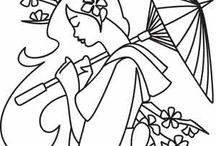 lineart broderie