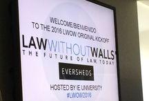 #LWOW2016 Law Without Walls / Es un programa promovido por la Firma Eversheds donde se forman equipo entre 95+ estudiantes de 30 escuelas de negocios y de derecho de todo el mundo con mentores (académico, empresario y abogado mentor).