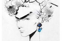 Contemporary fashion illustrator