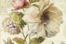 Arte flores vintage