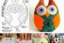Almofadas feitas a mão - artesanato criativo! / Moldes, dicas e passo a passo de lindas almofadas feitas a mão, usando o feltro, o tecido, crochet e outros materiais de artesanato! Um painel para te inspirar a fazer também!