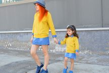 Mother and children / En el blog de moda infantil, madre e hijo vestidos iguales