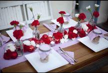 00-fête thème hiver en rouge, blanc et argent