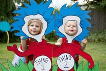 """Girl's birthday """"Thing 1 and Thing 2"""""""