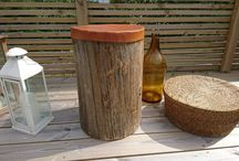 Stump with leather top