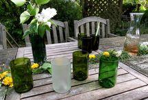 Recycelte Weinflaschen / Individuelle Windgläser, Lampenschirme aus Glas, Trinkgläser, recycelte Weinflaschen, Flaschenbecher, Whiskygläser