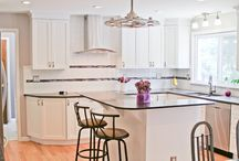 Transitional Kitchen Design With A Pop Of Color