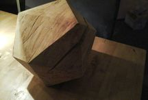 wood work, polyhedra and other work / Carving and sawing