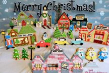 Christmas felt board ideas / by Jennifer Heinschel