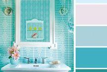Light blue/turquoise color palette / Interesting color palettes for future paintings