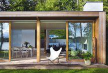 House design / Single level houses for New Zealand riverside location