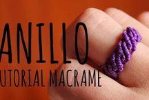 anillos macrame