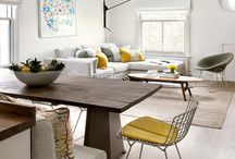 open plan lounge dining room