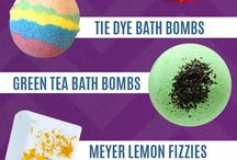 Bath bombs and soaps and candles
