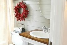 Main Bathroom Inspiration / I wish we didn't have a window in our shower... / by Allison (The Golden Sycamore)