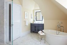 Vani Sayeed Studios ~ Working the Angles / Victorian is a luxe family bathroom- until it becomes a part of the master suite.